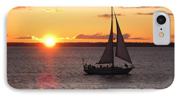 IPhone Case featuring the photograph Sailboat At Sunset by Karen Molenaar Terrell