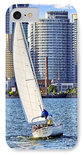 Sailboat In Toronto Harbor Phone Case by Elena Elisseeva