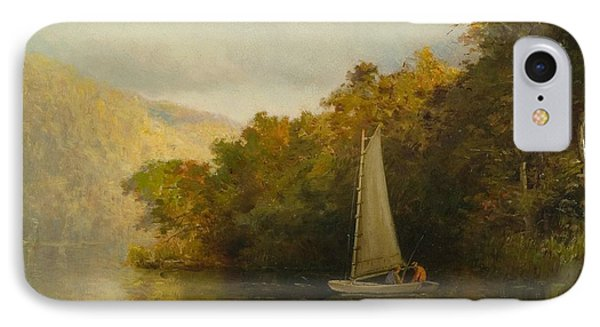 Sailboat On River Phone Case by Arthur Quarterly