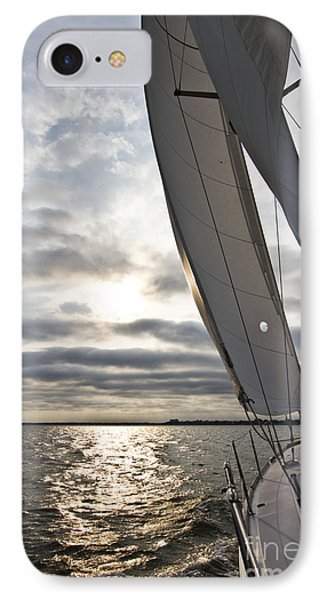 Sailboat Sailing Beneteau 49 Charleston Harbor IPhone Case by Dustin K Ryan