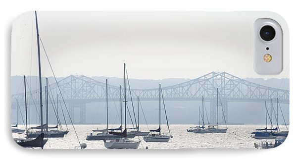 Sailboats And The Tappan Zee Bridge IPhone Case by Bill Cannon