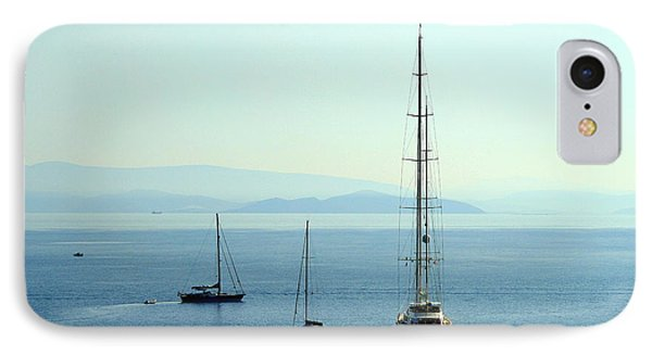 Sailboats In The Morning IPhone Case