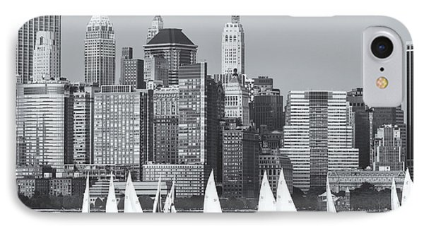 Sailboats On The Hudson V Phone Case by Clarence Holmes