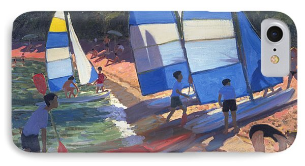 Sailboats South Of France Phone Case by Andrew Macara