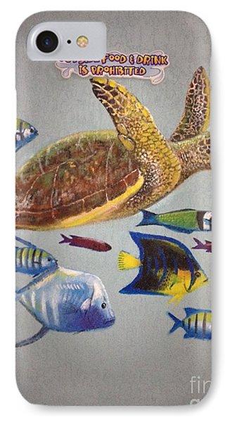 Sailfish Splash Park Mural 10 IPhone Case by Carey Chen