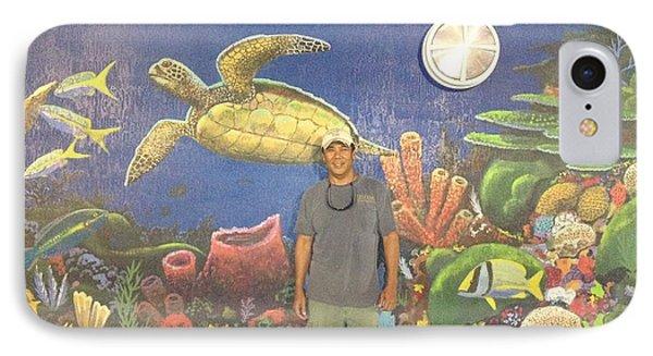 Sailfish Splash Park Mural 7 Phone Case by Carey Chen