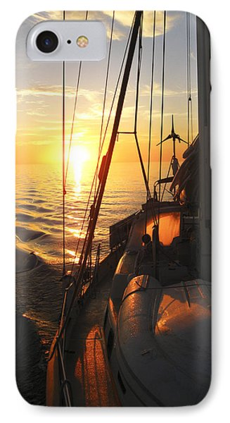 IPhone Case featuring the digital art Sailing by Anne Mott