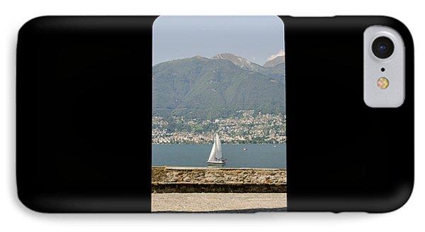 Sailing Boat Through An Open Door Phone Case by Mats Silvan