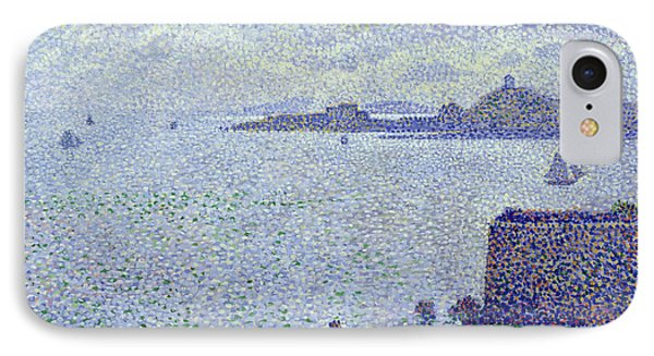Sailing Boats In An Estuary IPhone Case by Theo van Rysselberghe
