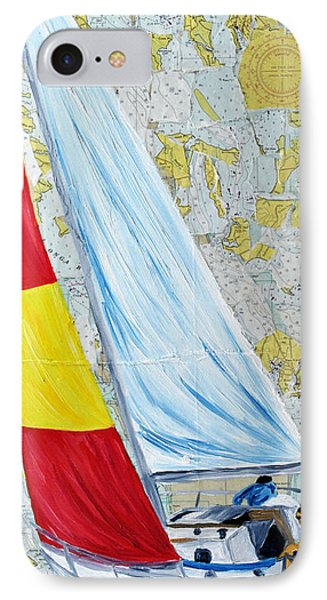 Sailing From The Charts Phone Case by Michael Lee