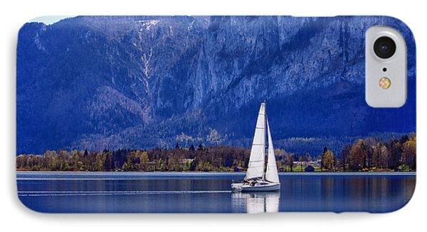 Sailing On Mondsee Lake Phone Case by Lauri Novak