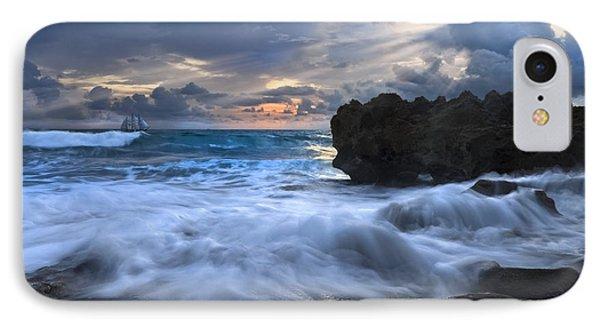 Sailing On The Silk Blue Sea Phone Case by Debra and Dave Vanderlaan
