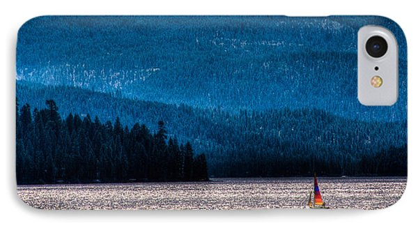 Sailing Priest Lake Phone Case by David Patterson