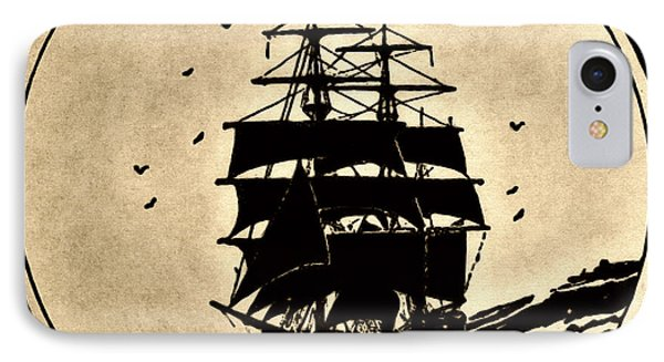 Sailing Vessel Phone Case by Susan Leggett