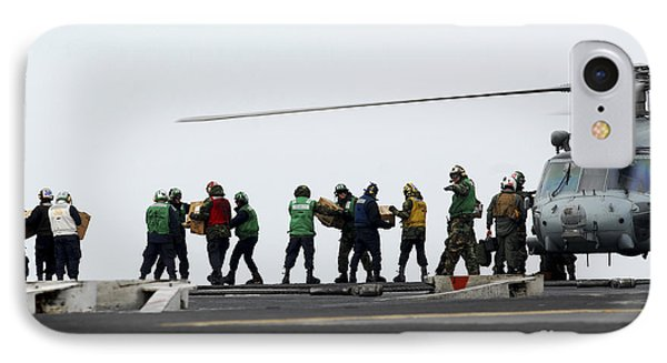 Sailors And Marines Load Supplies Onto Phone Case by Stocktrek Images
