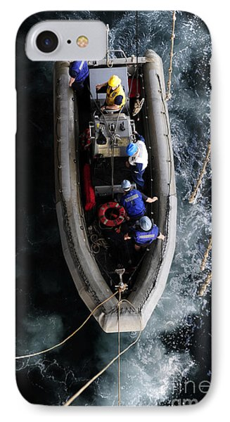 Sailors Conduct A Man Overboard Drill Phone Case by Stocktrek Images