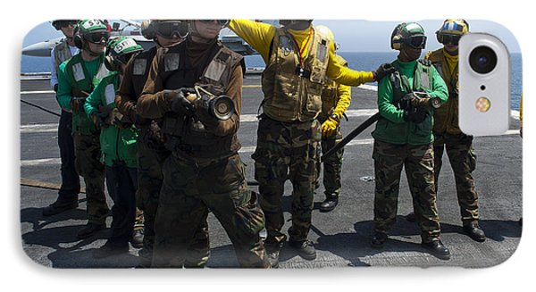 Sailors Fight A Simulated Fire Drill Phone Case by Stocktrek Images
