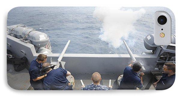 Sailors Perform A 21-gun Salute Aboard Phone Case by Stocktrek Images
