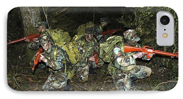 Sailors Take Part In Combat Training Phone Case by Stocktrek Images
