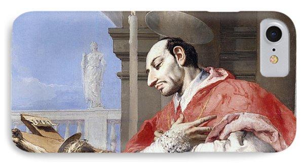 Saint Charles Borromeo IPhone Case by Giovanni Battista Tiepolo