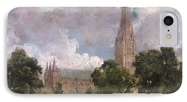 Salisbury Cathedral From The South West IPhone Case