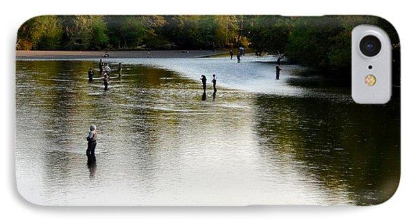 Salmon Hunting Skok Style IPhone Case by Mark Bowmer