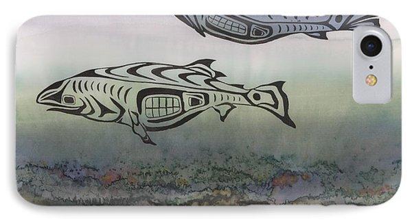 Salmon Stream IPhone Case by Carolyn Doe