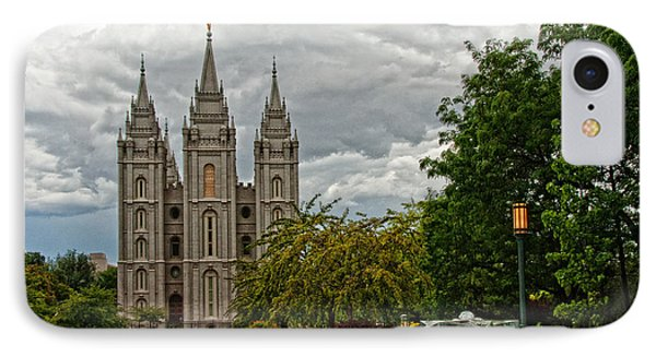 Salt Lake City Temple Grounds Phone Case by La Rae  Roberts
