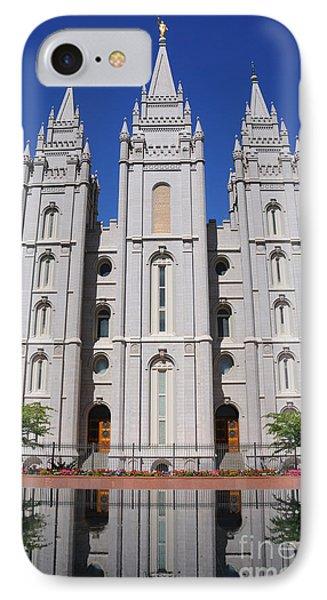 Salt Lake Mormon Temple IPhone Case by Gary Whitton