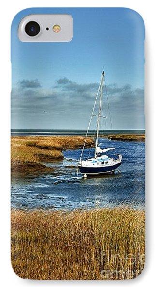 salt Marsh Sailboat IPhone Case by John Greim