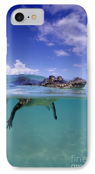 Salt Water Crocodile Phone Case by Franco Banfi and Photo Researchers
