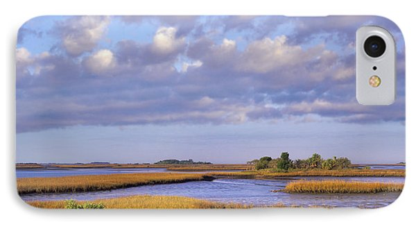 Saltwater Marshes At Cedar Key Florida Phone Case by Tim Fitzharris