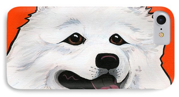 Samoyed Phone Case by Leanne Wilkes