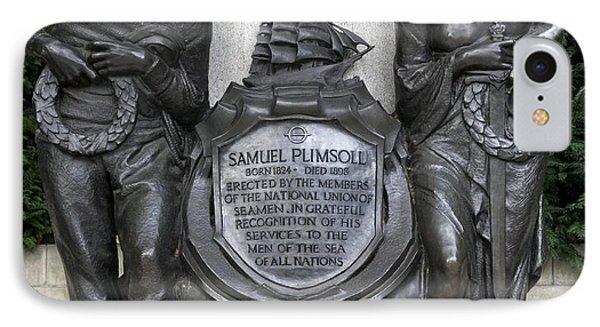 Samuel Plimsoll Commemorative Plaque IPhone Case by Sheila Terry