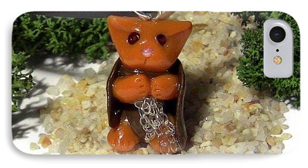 Samwise Kitty Lord Of The Rings Parody Necklace Phone Case by Pet Serrano