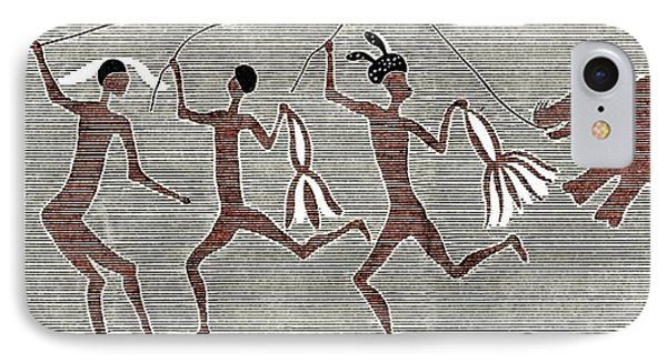 San Bushmen Rain Dance, Artwork IPhone Case by Sheila Terry