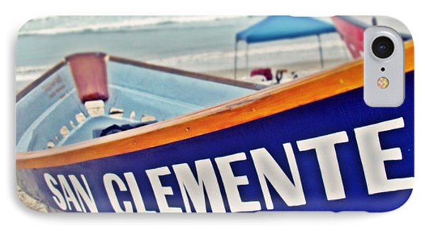 San Clemente Dory Boat Phone Case by Traci Lehman