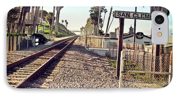 San Clemente Train Tracks Phone Case by Traci Lehman