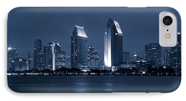 San Diego At Night Phone Case by Paul Velgos