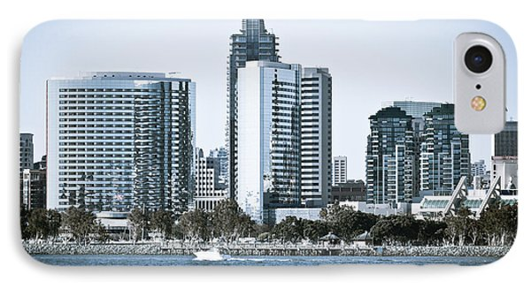 San Diego Downtown Waterfront Buildings Phone Case by Paul Velgos