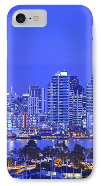 San Diego Skyline And Harbour Island Phone Case by Stuart Westmorland