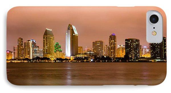 San Diego Skyline At Night Phone Case by Paul Velgos