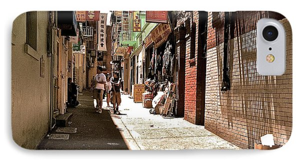 IPhone Case featuring the photograph San Fran Chinatown Alley by Bill Owen