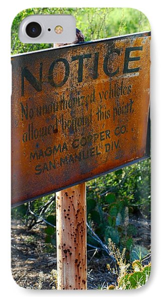 San Manuel Sign Phone Case by T C Brown