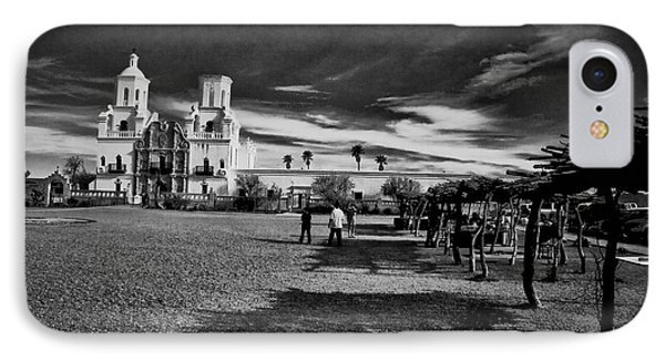 IPhone Case featuring the photograph San Xavier Del Bac Mission by Tom Singleton