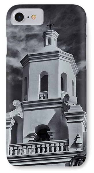 IPhone Case featuring the photograph San Xavier Tower by Tom Singleton