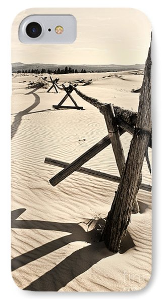 Sand And Fences Phone Case by Heather Applegate