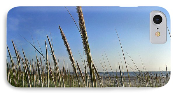 IPhone Case featuring the photograph Sand Dune Grasses by Pamela Patch