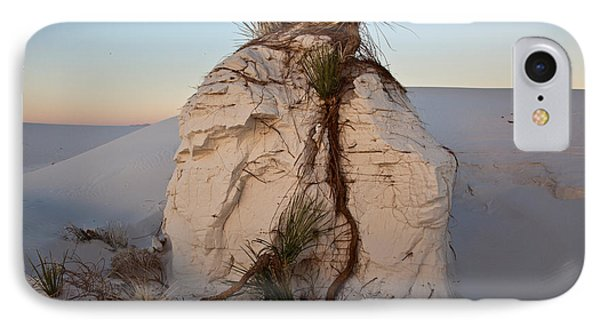 Sand Pedestal With Yucca Phone Case by Greg Dimijian