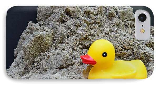 Sand Pile And Ducky IPhone Case by Randy J Heath